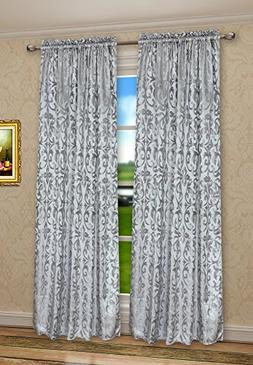 Pack of 2, CaliTime Rod Pocket Window Curtains Panels for Be