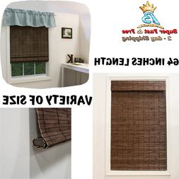 Bamboo Roman Window Shade Blind Roll Up Roller Cordless Coco