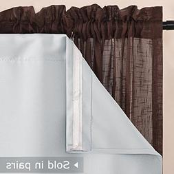 """NICETOWN Blackout Curtain Liners for 95"""" Curtains - Black Ou"""