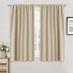 RYB HOME Beige Window Covering Curtain Panels Decoration  Th