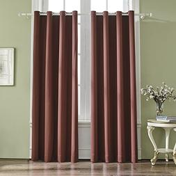VOGOL Room Darkening Thermal Insulated Blackout Solid Window