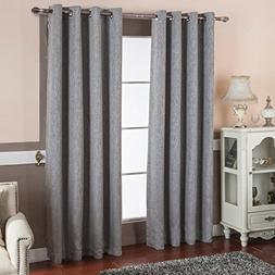 BEST DREAMCITY Faux Linen Thermal Insulated Grommet Blackout