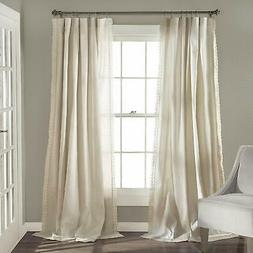Lush Decor Rosalie Window Curtains Farmhouse, Rustic Style P