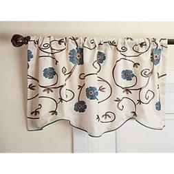 Royal Garden Floral Window Kitchen Curtain Valance, 18&rdquo