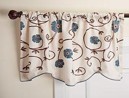 Royal Garden Floral Window Kitchen Curtain Valance 100% Poly