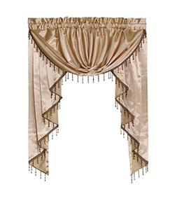 Octorose Royalty Custom Waterfall Window Valance Swags & Tai