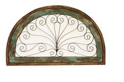 Half Moon Arch Rustic Architectural Wall Garden Window-Wood