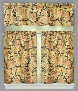 Traditions by Waverly Rustic Retreat Floral Stripe Window Ti
