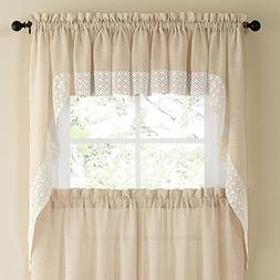 Salem Kitchen Curtain - Swag Pair French Vanilla