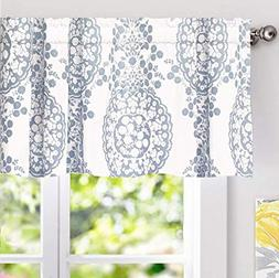 DriftAway Samantha Window Curtain Valance, Floral/Damask Med