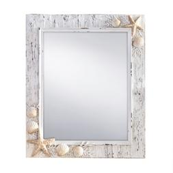 Prinz Sand Piper Mirror with Resin Border and Seashells and