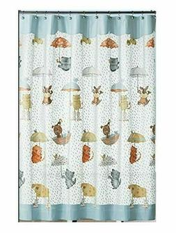 "Saturday Knight Raining Cats and Dogs 72"" x 70"" Shower Curta"