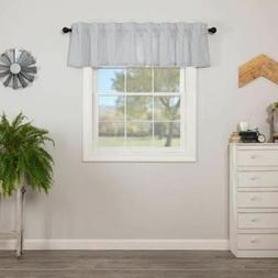 SAWYER MILL BLUE TICKING STRIPE VALANCE