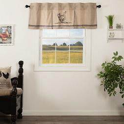Sawyer Mill Charcoal Kitchen Curtains Valance Drape Country
