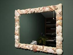 Beautiful Sea Shell Mirror - 20 in. x 24 in.