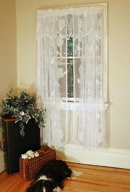 Curtain Chic Seashells Lace Panel, 63-Inch, White