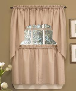 Seersucker Kitchen Curtains - 3 colors - Tiers, Swags, Valan