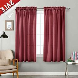 Semi Sheer Curtains for Kitchen Curtain Linen Textured Priva