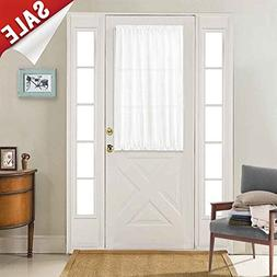 Semi Sheer French Door Curtains Privacy Casual Weave Texture
