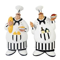Set of 2 Italian Chef Figurines Kitchen Decor Adorable Cooki