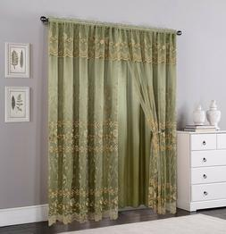 Set of 2 Panels 2 Layers Voile Sheer Rod Pocket Window Curta