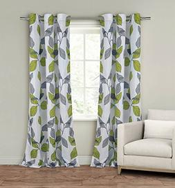 """Set of Two  Window Curtain Panels: 110"""" x 84"""", Grommets, Whi"""