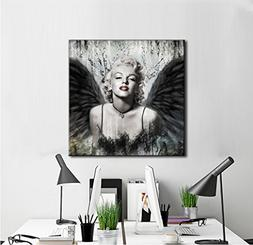Sexy Marilyn Monroe Printed Painting on Canvas Wall Art Blac