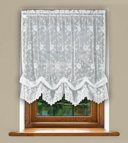Grace Shabby Chic Floral Lace Tie Up Balloon Shade Window Cu