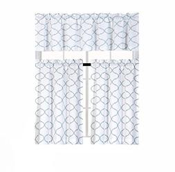 shabby trellis kitchen curtain tier