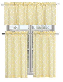 Regal Home Collections Shabby Trellis Kitchen Curtain Tier &