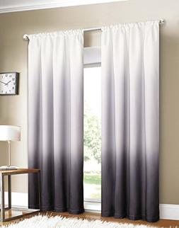 Bed Bath Outlet Set Of 2 Shades Rod Pocket Window Panel Curt