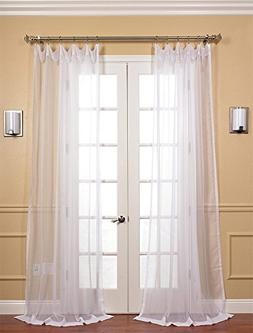Half Price Drapes SHCH-VOL1-120-PR Pair Voile Poly Sheer Cur