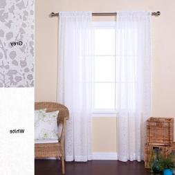 Best Home Fashion Sheer Branch Pattern Curtains - Rod Pocket