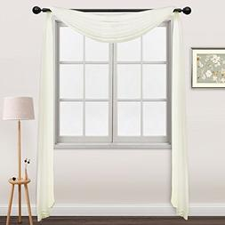 """NICETOWN Sheer Curtain Scarf 216"""" - Easy Care Solid Sheer Vo"""