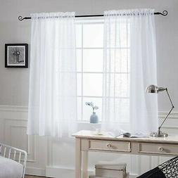 NICETOWN Sheer Curtains for Small Window - Kitchen Linen Loo