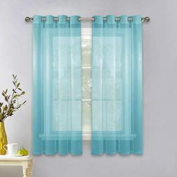 """NICETOWN Sheer Curtains 63"""" Long - Lightweight & Thin Gromme"""