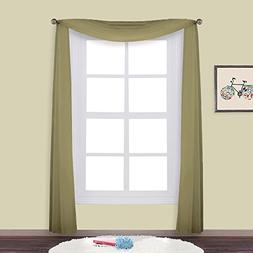NICETOWN Sheer Curtains Panels for Bedroom - Soft Voile Scar