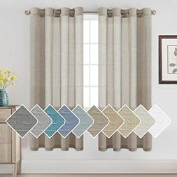 Sheer Linen Kitchen Curtains - Linen Curtains 72 inches Long