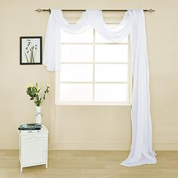 HOLKING Sheer Panel Curtains Scarf-Home Decor Window Sheer V