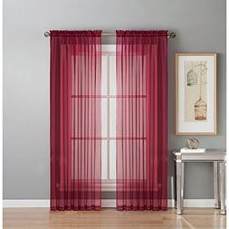 Window Elements Sheer Voile Rod Pocket Extra Wide 54 x 63 in