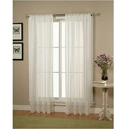WPM Drape/Panels/Treatment Beautiful Sheer Window Elegance C