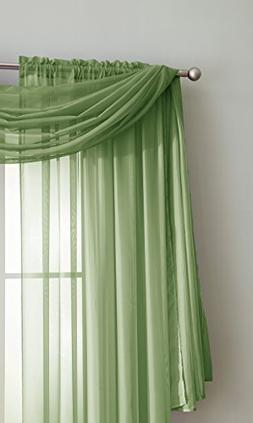 Sheer Window Scarf Fabric Sheer Voile curtain for Window Tre