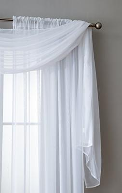 Amazing Sheer Window Scarf Fabric Sheer Voile curtain for Wi