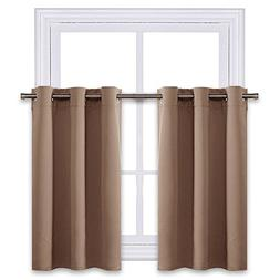 NICETOWN Short Curtains Blackout Nursery Valance - Thermal I