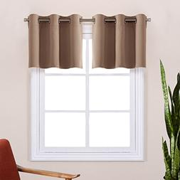 Short Curtains Blackout Valance for Nursery - Thermal Insula
