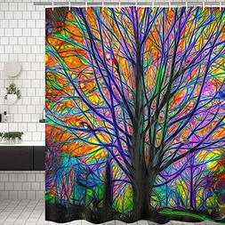 Shower Curtains Bathroom Shower Curtain Colorful Tree Birds
