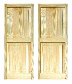 LTL Home Products SHP63 Exterior Solid Wood Raised Panel Win