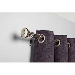 Better Homes and Gardens Silver Knob Curtain Rod Set 48x84 N