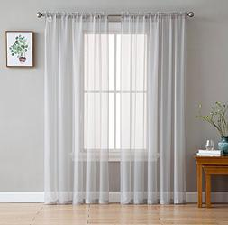 "HLC.ME Silver 2-Pack 108"" inch x 84"" inch Window Curtain She"