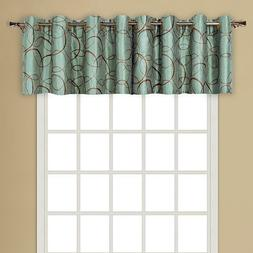United Curtain Sinclair Embroidered Grommet Valance, 54 X 18